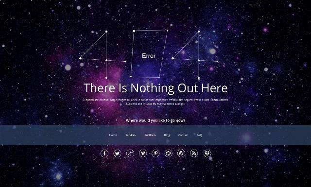 Galaxy404 Responsive 404 Template