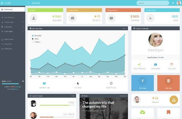 AppUI Bootstrap Admin Web App Template