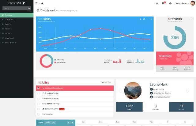 Boostbox Responsive Admin Dashboard Template