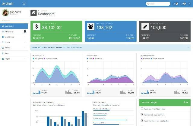 Chain Responsive Bootstrap 3 Admin Template