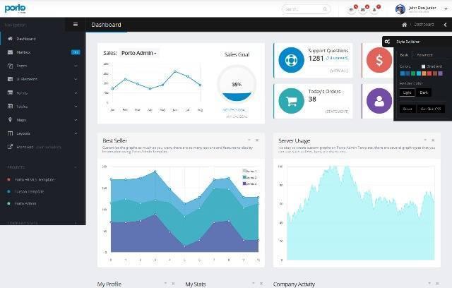 Porto Admin Responsive HTML5 Template