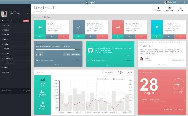 Rapido Responsive Admin Dashboard Theme