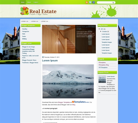 Blogger Real Estate Template