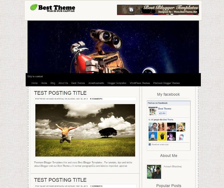 Canvas HTML5 Blogger Template