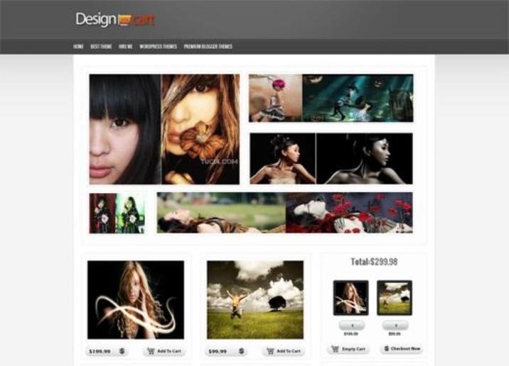 Design Cart E-commerce Blogger Template