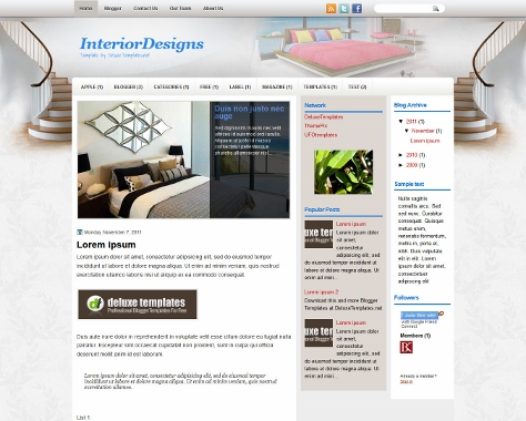 InteriorDesigns Blogger Template