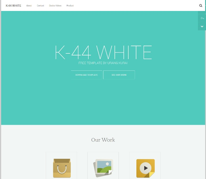 k44 white template Blogger Template