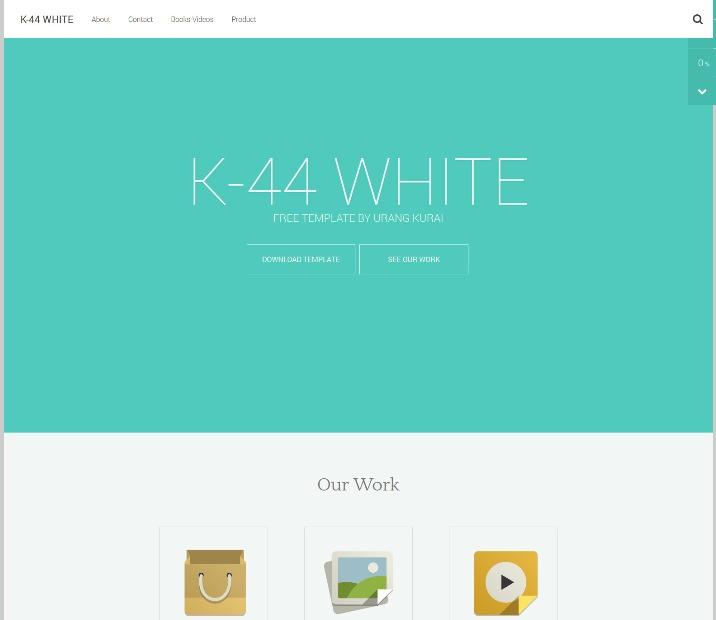 k44 white template Blogger Template