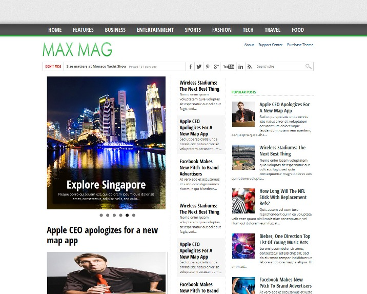 MaxMag Blogger Template