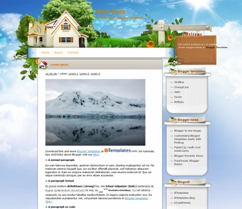 Real Estate Blogger Free Template