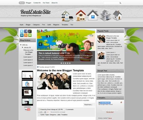 RealEstateSite Free Blogger Template