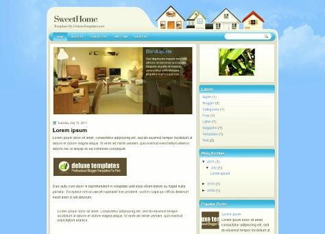SweetHome Real Estate Blogger Template