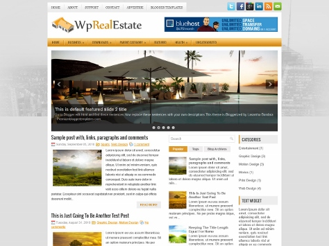 WpRealEstate Free Blogger Template