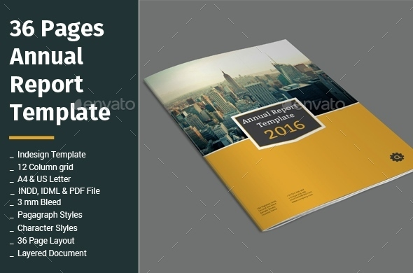36 Pages Annual Report Template