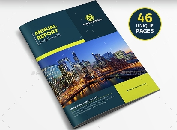 Clean Annual Report Brochure Indesign Layout V6