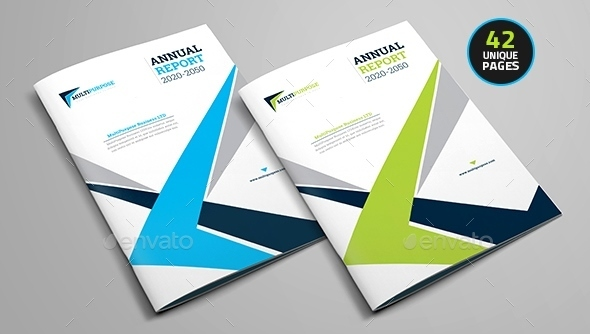 Annual Report Brochure Layout Design Template Annual Report