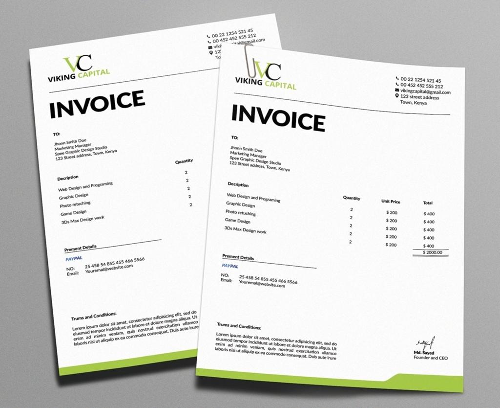 Free Minimalist Invoice Template