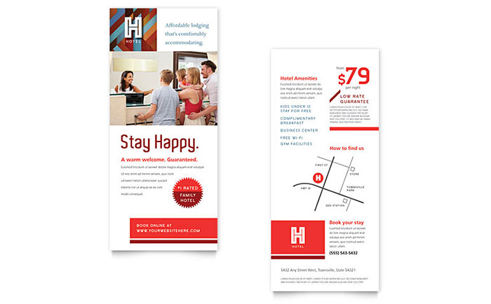 Hotel Rack Card Template