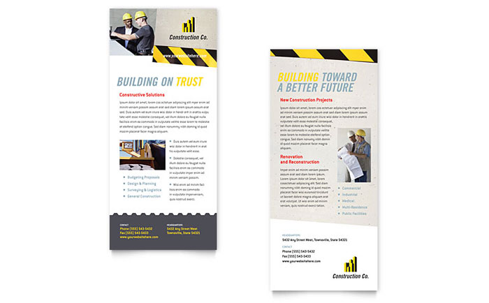 Industrial & Commercial Construction Rack Card
