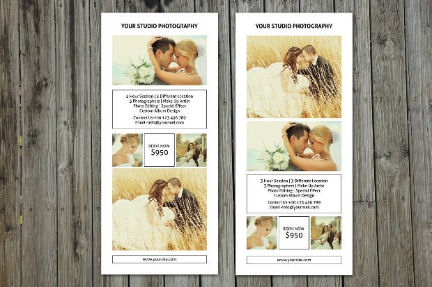 Wedding Photographer Rack Card Template