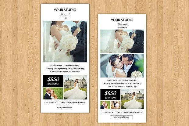 Wedding Photographer Rack Card-V241