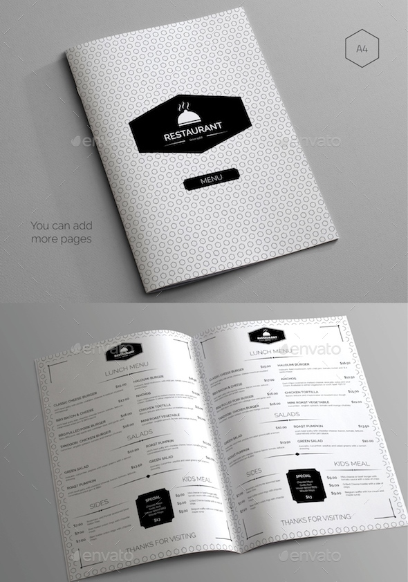 Restaurant Food Menu Pack