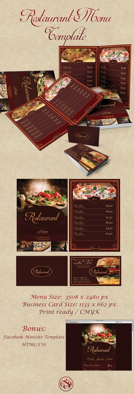 Free Restaurant Menu Template