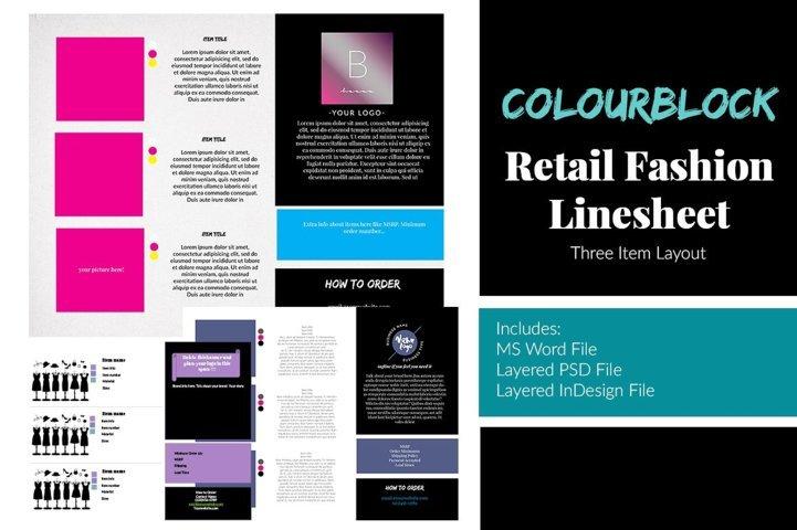 3 Item Retail Fashion Line Sheet