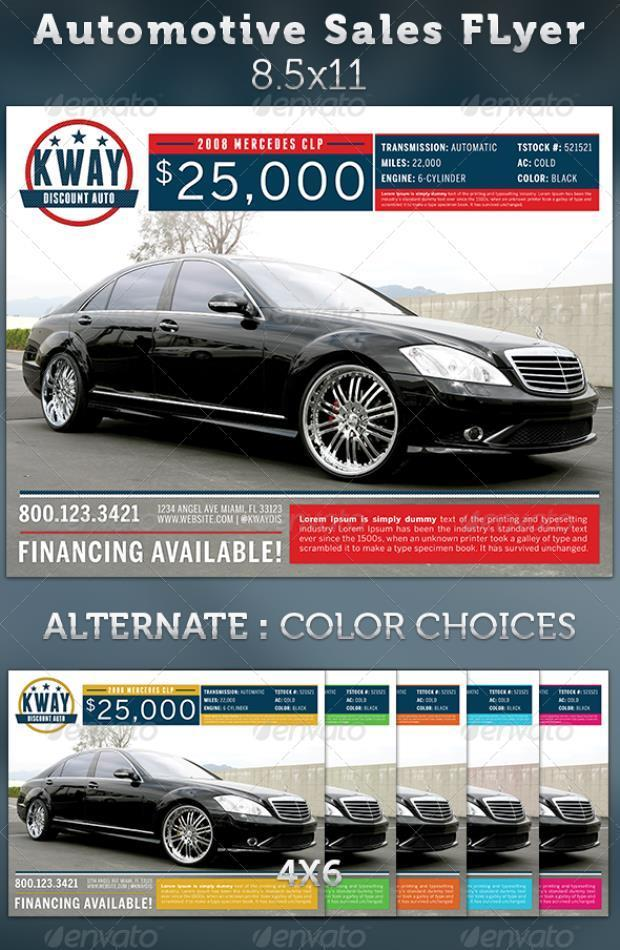 Automotive Sales Ad Flyer Template