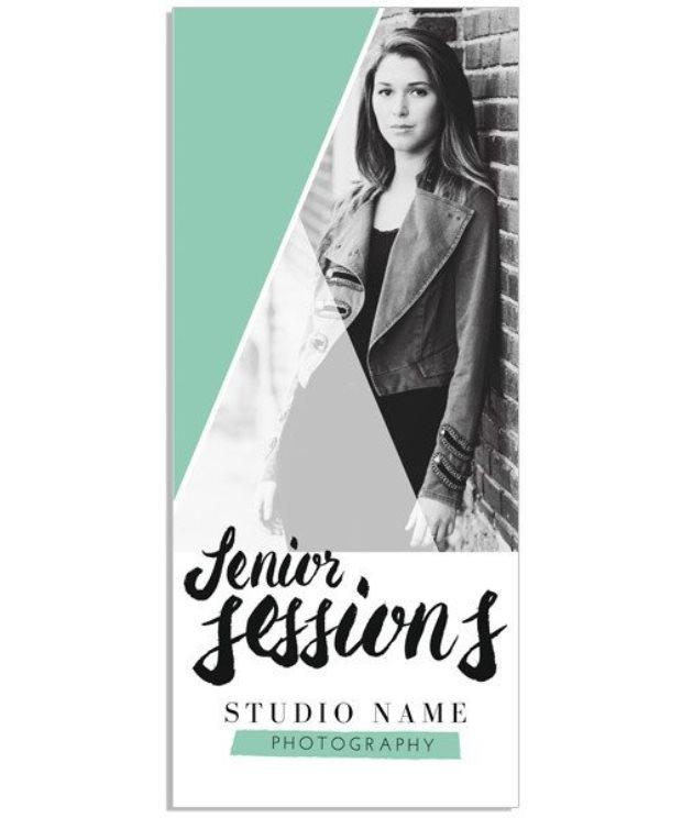 Modern Brush Tri-fold Brochure Sell Sheet Template