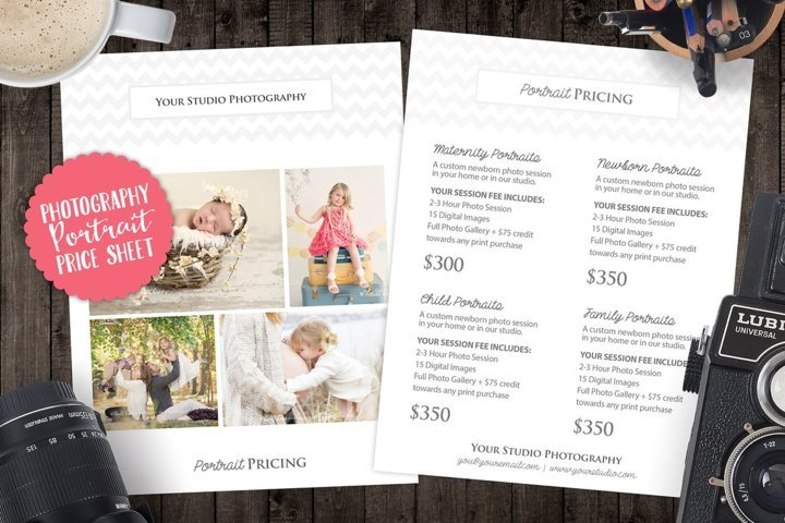 Price List Sell Sheet with Cover