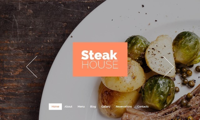 Cafe and Restaurant One Page Drupal Theme