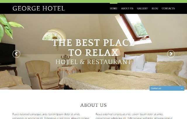 Hotels - One Page Drupal Theme