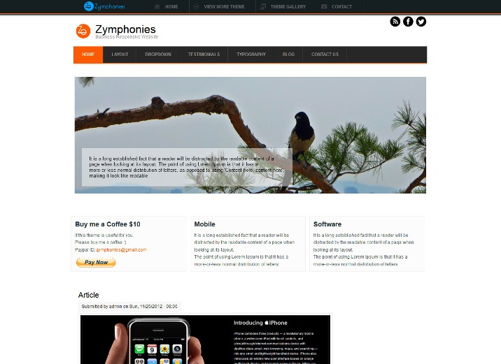 Business Free Drupal Theme