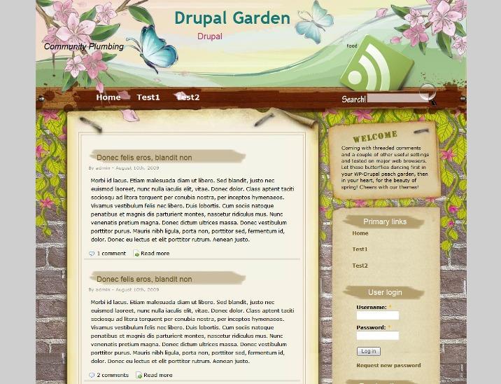 Gardening Free Drupal Theme