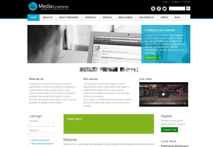 Media Free Drupal Theme