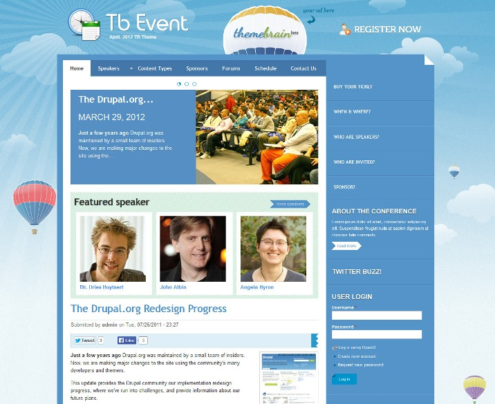 TB Events Free Drupal Theme