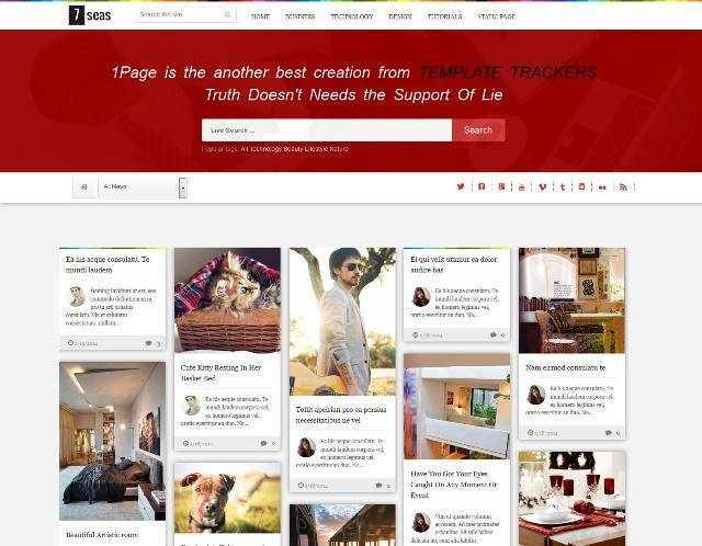 7seas Blog Multipurpose Blogger Template