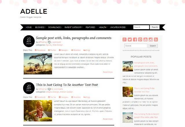 Adelle Blogger Template