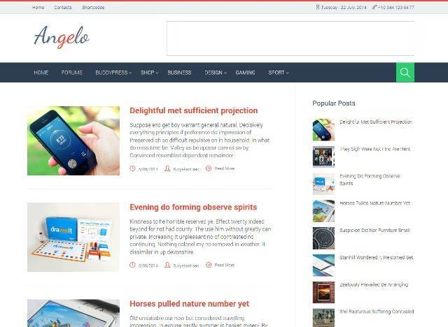 Angelo Technology Blogger Template
