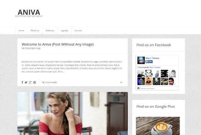 Aniva Simple Blogger Template