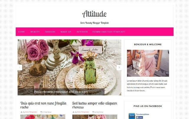 Attitude Fashion Blogger Template