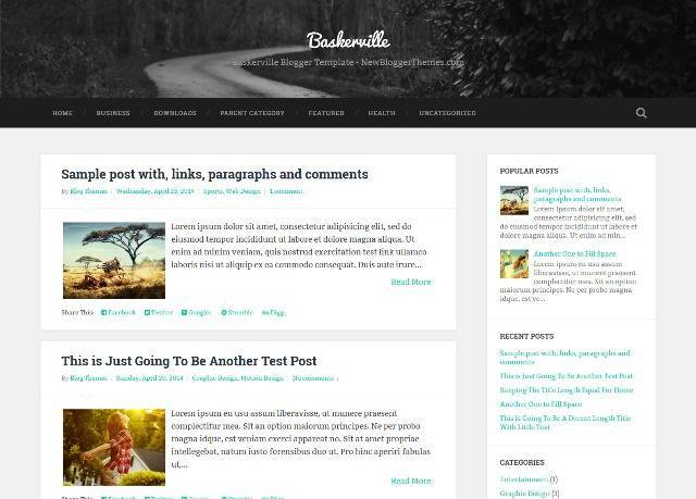 Baskerville Blogger Template