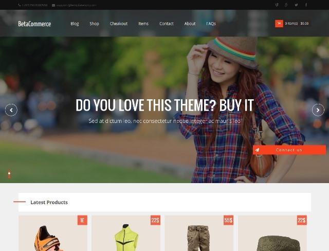 BetaCommerce eCommerce Blogger Template