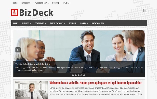 BizDeck Blogger Template