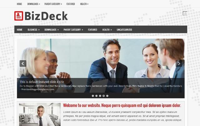 BizDeck Blogger Template