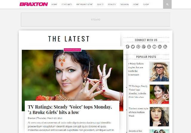 Braxton Fashion Blogger Template