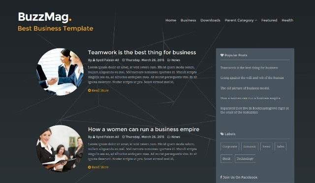 BuzzMag business blog blogger template