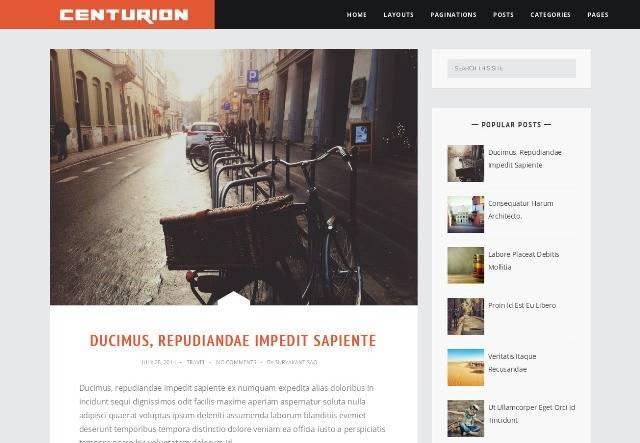 Centurion Responsive Blogger Template