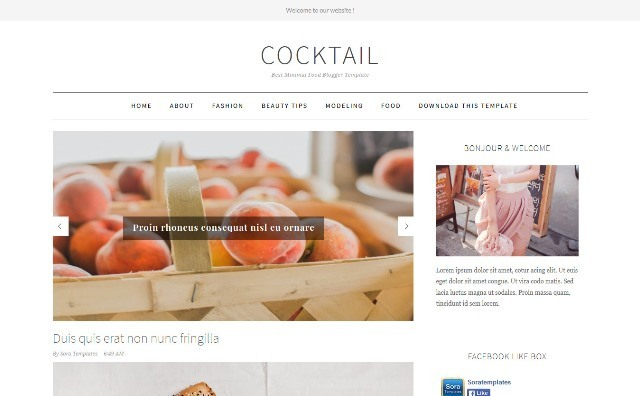 CockTail Business Blogger Template